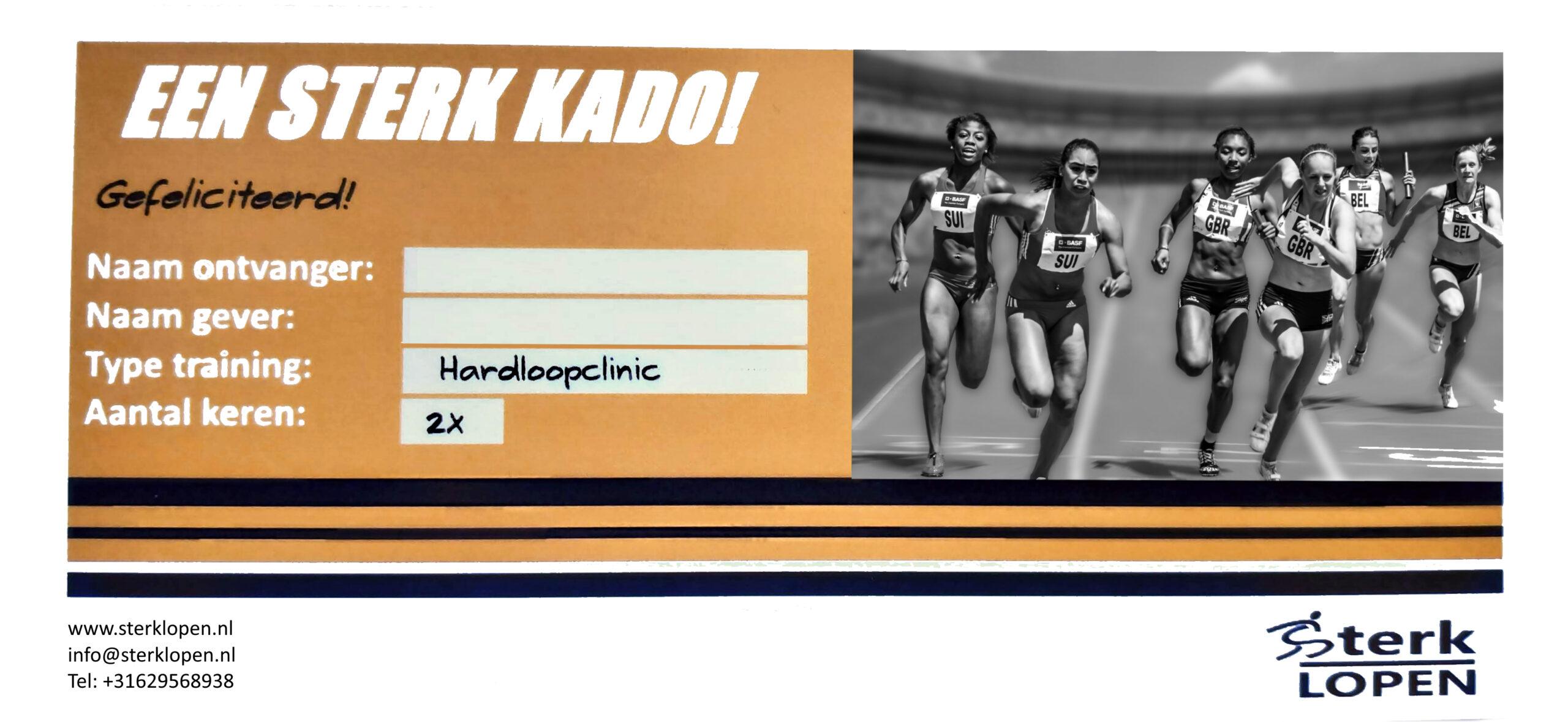 Hardloopclinic Kadobon